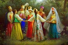 Rysk danse royaltyfri bild