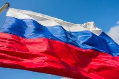 Rysk flagga Arkivfoto