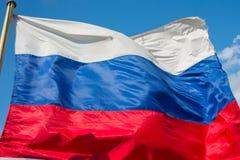Rysk flagga Royaltyfri Fotografi