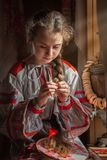 Rysk flicka royaltyfria bilder
