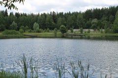 Rysk flod Royaltyfri Fotografi