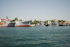 Rysk flotta i Krim Arkivfoto