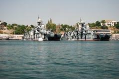 Rysk flotta i Krim Royaltyfri Foto