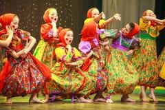 Rysk folkdans Fotografering för Bildbyråer
