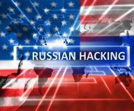 Rysk hacka illustration för översikt 3d för USA Ryssland Arkivfoto