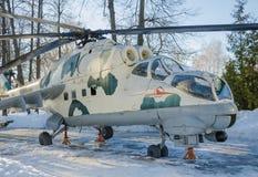 Rysk helikopter Mi - 24 Arkivbild