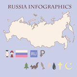 Rysk infographics Arkivbild
