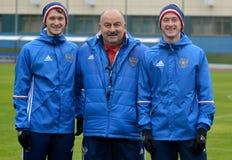 Rysk internationell fotbollslagchef Stanislav Cherchesov Royaltyfri Bild