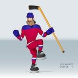 Rysk ishockeyspelare Fotografering för Bildbyråer