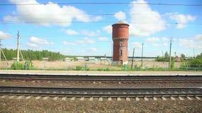 Rysk järnväg stock video