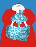 Rysk jultomten - avla den stora påsen för frost av gåvor för barn S Royaltyfria Foton