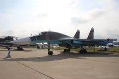 Rysk kämpe-bombplan SU-34 Fotografering för Bildbyråer