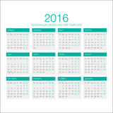 Rysk kalendervektor 2016 Fotografering för Bildbyråer