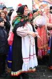 Rysk karneval (Maslenitsa) 2011, Moscow Arkivfoto