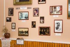 Rysk konstnär Grigory Soroka Utläggningen i museet Arkivbilder