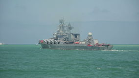 Rysk krigsskepp lager videofilmer