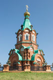 Rysk kristen kyrka i krasnoyarsk Royaltyfria Foton