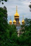Rysk kyrka, Wiesbaden, Tyskland arkivbild