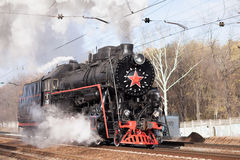 Rysk lokomotiv Fotografering för Bildbyråer