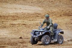Rysk militär ATV Arkivfoto