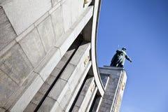 Rysk minnesmärke, Berlin Arkivfoto