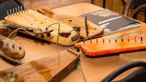 Rysk musikinstrumentgusli Arkivbild
