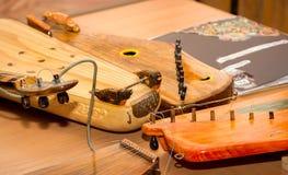 Rysk musikinstrumentgusli Royaltyfri Foto