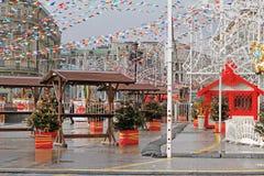 Rysk nationell festival` Shrove ` på den Manezhnaya fyrkanten i Moskva Arkivfoton
