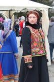 Rysk nationell klänning royaltyfri fotografi