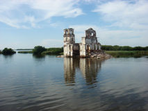 Rysk ortodox arkitektur Krohino Royaltyfri Bild