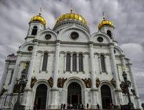 Rysk ortodox domkyrka i moscow Royaltyfria Bilder