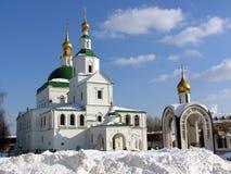 Rysk ortodox kloster i vinter Royaltyfri Foto