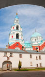 Rysk ortodox kristenkyrka på den Valaam ön, Ladoga Lake Royaltyfri Foto
