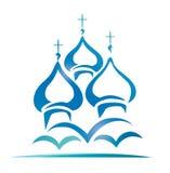 Rysk ortodox kyrka royaltyfri illustrationer