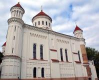Rysk ortodox kyrka av den heliga modern av guden, Arkivfoto