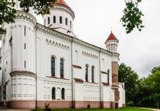 Rysk ortodox kyrka av den heliga modern lithuania vilnius Royaltyfria Bilder
