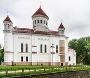 Rysk ortodox kyrka av den heliga modern lithuania vilnius Arkivbild