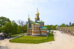 Rysk ortodox kyrka Darmstadt Royaltyfri Fotografi