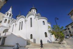 Rysk ortodox kyrka i gammal havannacigarr Royaltyfria Bilder