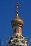 Rysk ortodox kyrka i Nice Royaltyfri Bild