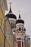 Rysk ortodox kyrka i Tallinn, Estland Royaltyfria Bilder