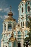 Rysk ortodox kyrka i Ukraina Fotografering för Bildbyråer