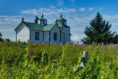 Rysk ortodox kyrka omgestaltningen av vår Herre, Ninilch Royaltyfri Fotografi