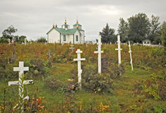 Rysk ortodox kyrka på den Kenai halvön Arkivbilder
