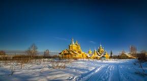 Rysk ortodoxkyrka Fotografering för Bildbyråer