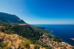Rysk by på berget i Montenegro Royaltyfri Fotografi