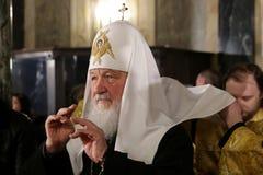 Rysk patriark Kirill royaltyfri fotografi