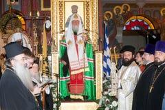 Rysk patriark Kirill Visits Thessaloniki Arkivbild