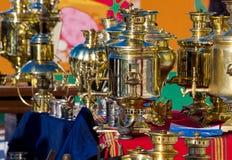 Rysk samovar Royaltyfri Fotografi
