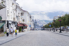 Rysk semesterortstad av Novorossiysk Royaltyfria Bilder